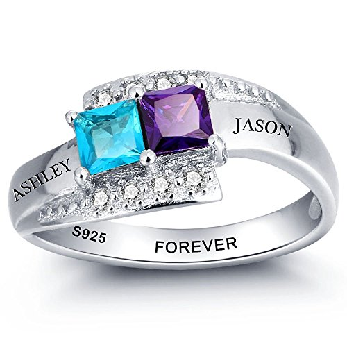 Personalised promise rings for couples