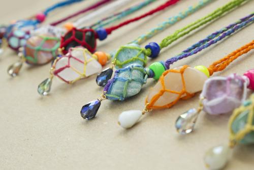 Macrame DIY Stone Necklace