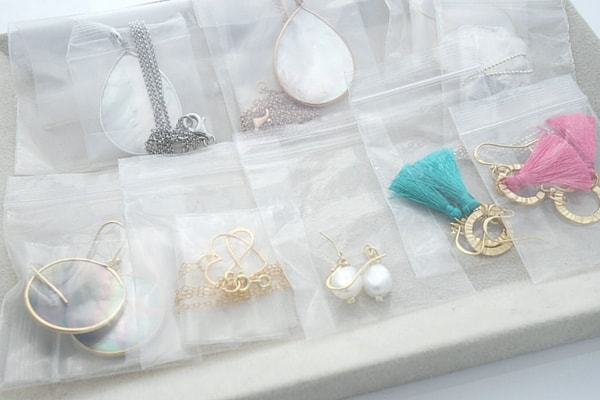 Ziploc bags for Jewellery