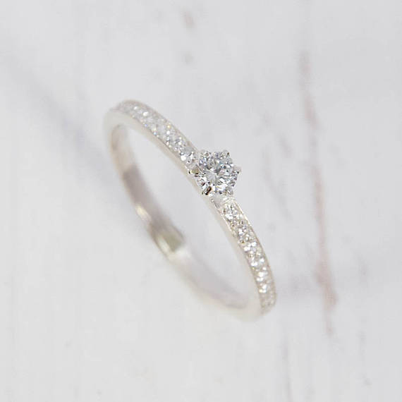 Dainty silver ring for her