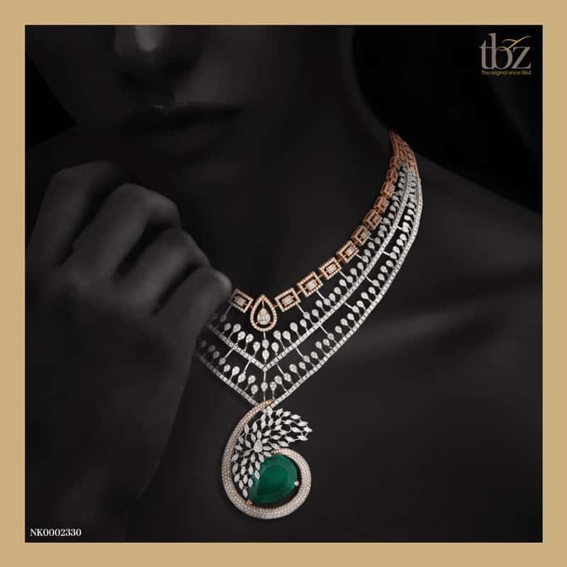 Emerald & diamond necklace
