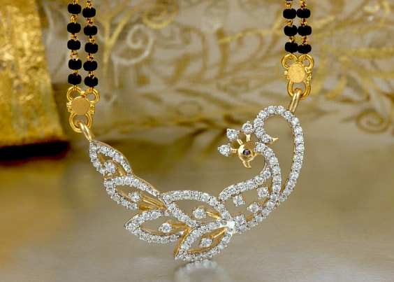 Mangalsutra with religious and animal motifs