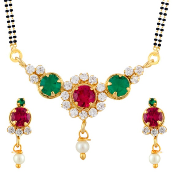 Multi-colored mangalsutra