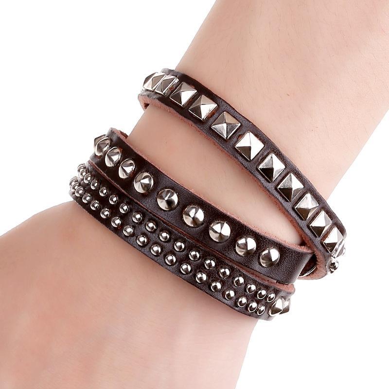 Punk Leather Bracelets By Dhgate.com