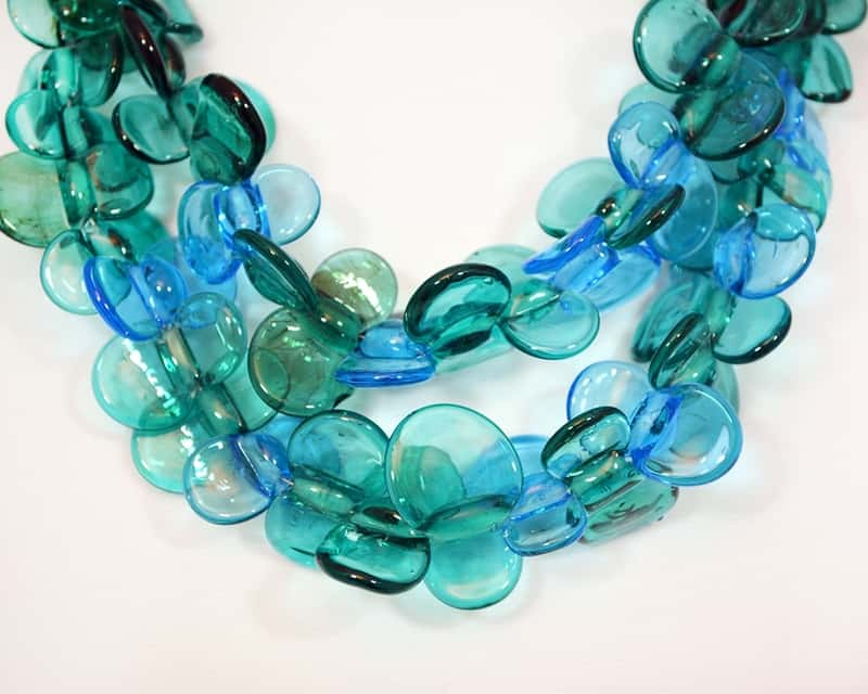 An authentic Murano aquamarine glass necklace by MuranoGlassGifts