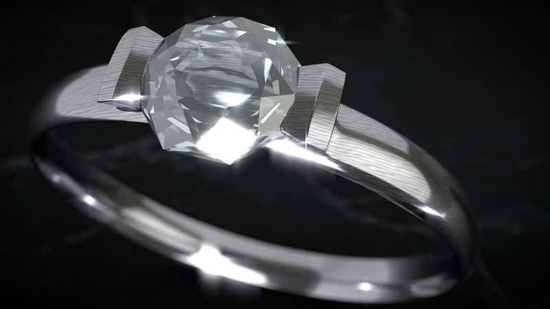 diamond ring for Aries