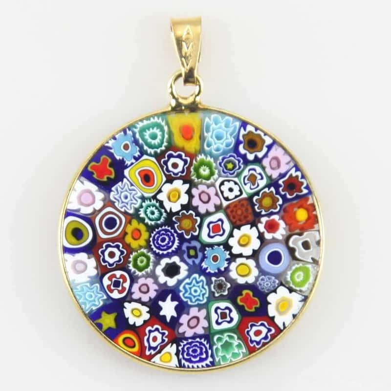 Millefiori pendants by Murano Glass World