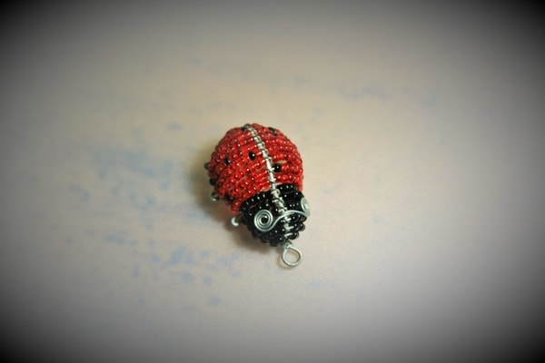 ladybug black pendant