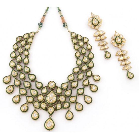 Malika -E-Gul Kundan Jewellery Set