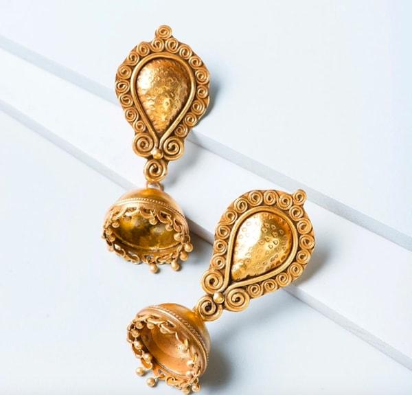 Silver ES 9776 Jhumka Earrings