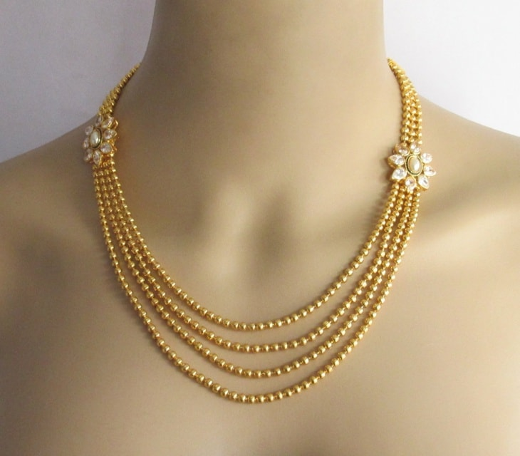 d5b9896e73c748 Latest Gold Necklace Designs You Need For The Party Season