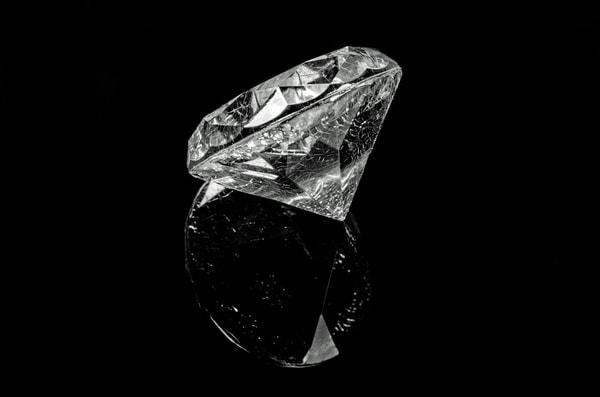 Cut and polished diamond