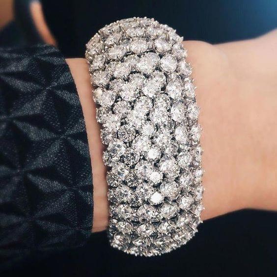 Diamond cuff bracelets