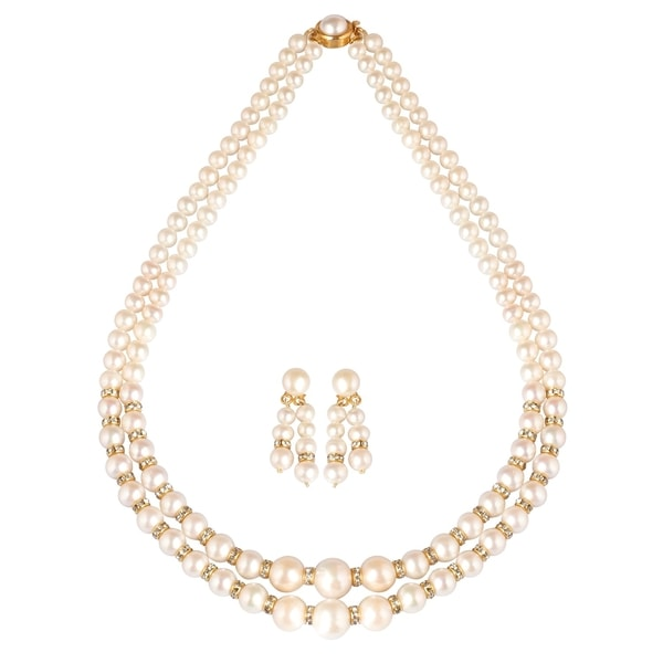 Freshwater Round Pearls Set by Krishna Pearls