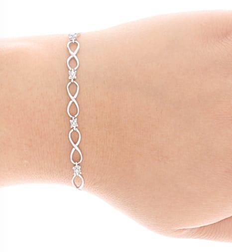 Infinity diamond bracelets