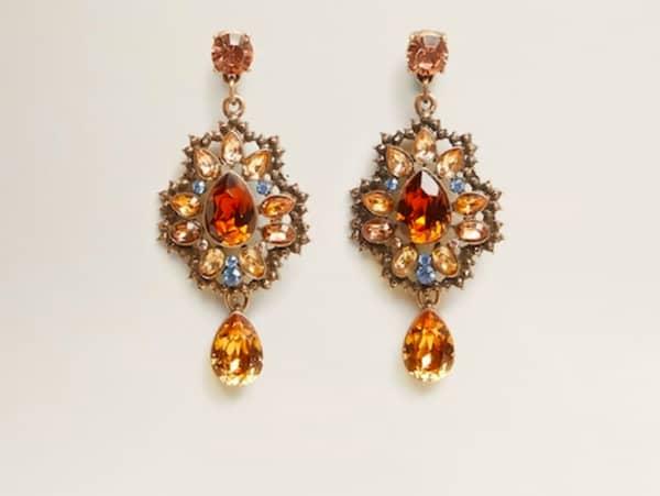 Mango Rhinestone crystal earring