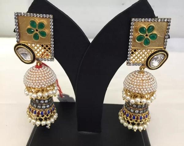 Pearl Jhumkas by Swati Pearls