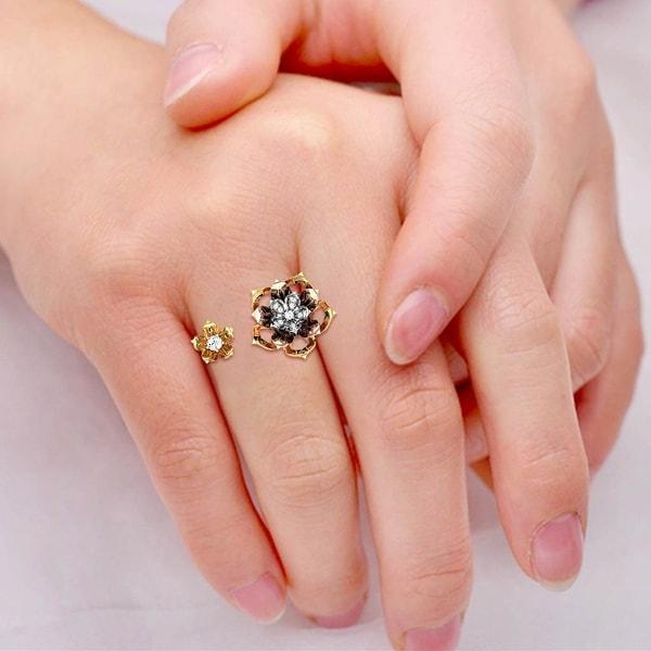 Summer Blush Diamond Gap Ring
