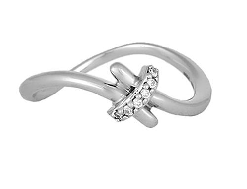 Tanishq 950KT Platinum Diamond Finger Ring