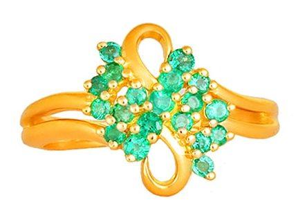Tanishq Yellow Gold Finger Ring
