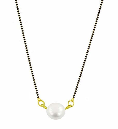 Mangalsutra with Black Bead Chain 18 inches for Women