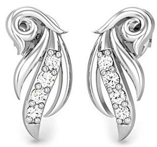 925 Sterling Silver and Diamond Stud Earrings