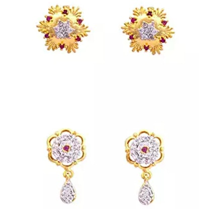 Estelle Floral Shaped Earrings Combo