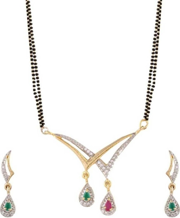 Frill Multi Color Alloy Mangalsutra