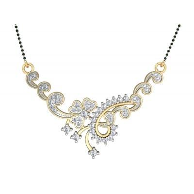 Floral Design Diamond Mangalsutra