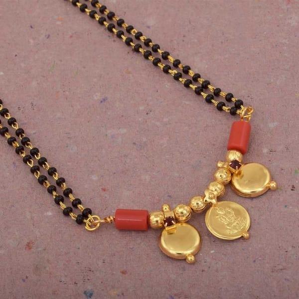 Laxmi Coin & double Waati Mangalsutra