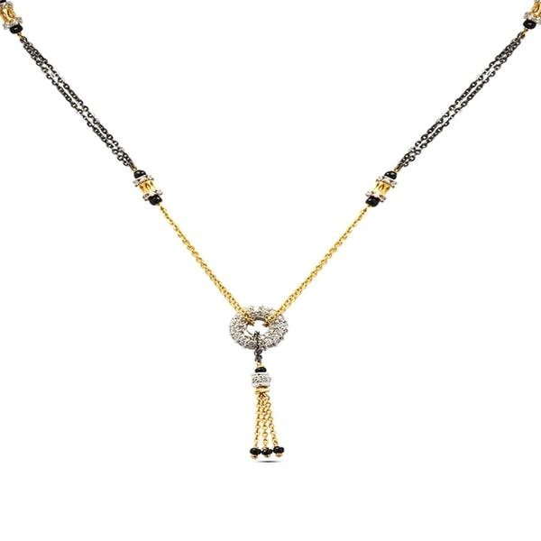 PNG Tassel Designer Gold Mangalsutra
