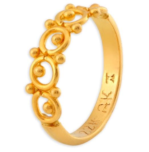Tanishq 22KT Gold Circle Finger Ring