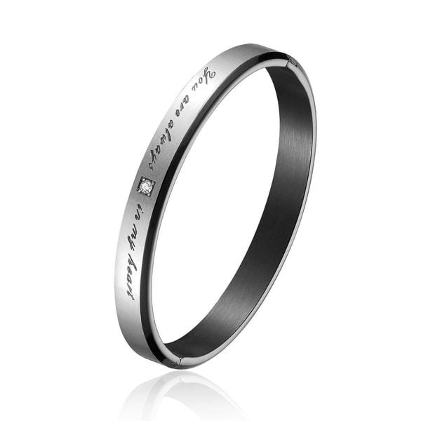 Titanium Steel Lovers Bracelet