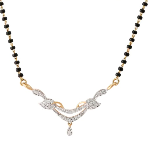 Yellow Gold Diamond Mangalsutra