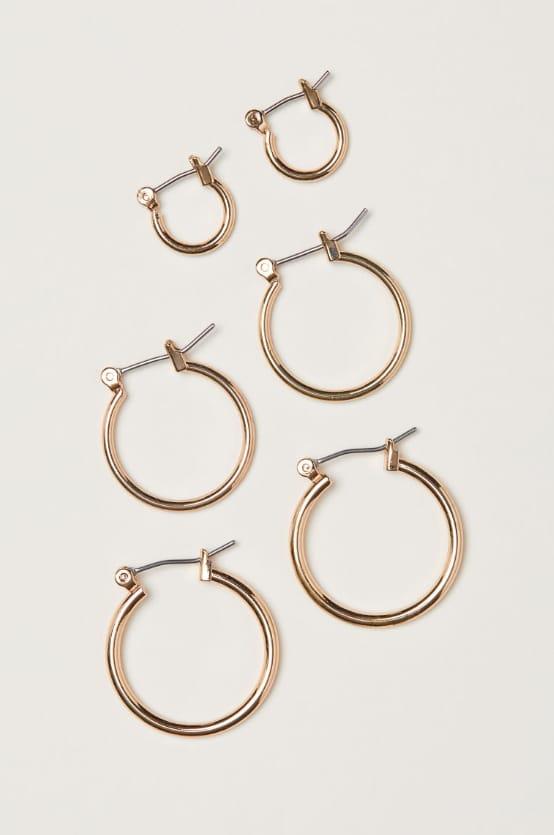 3 pairs earrings