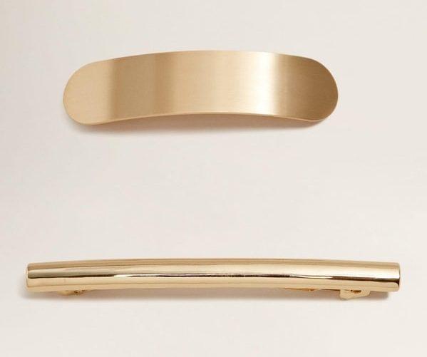 mango Gold Hairclip Set